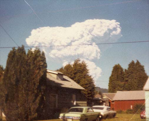 Mount St. Helens (as seen from our house)