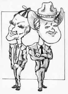 Jerry Brown and Bill Clinton