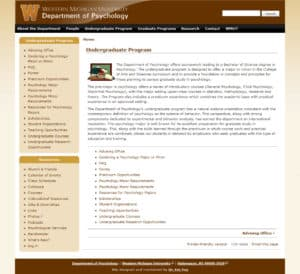 WMU Psychology Website