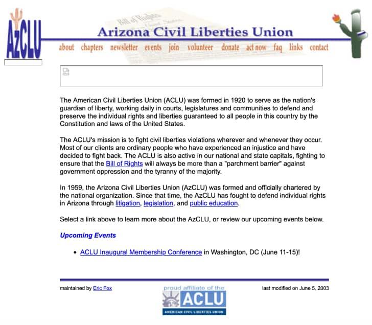AzCLU Website