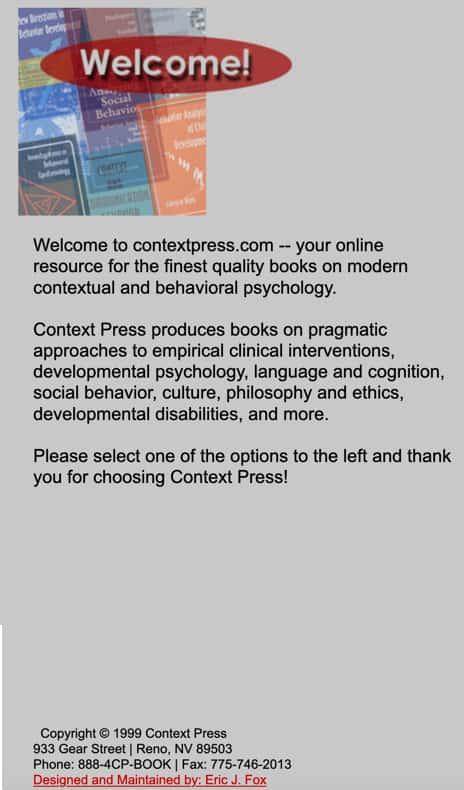 Context Press Website