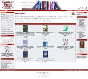 Context Press website screenshot