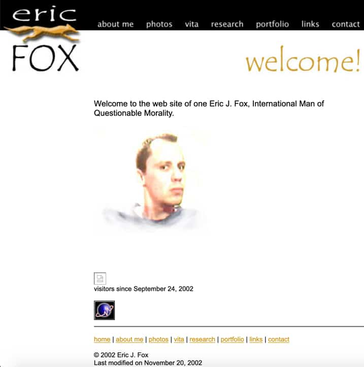 EricFox.net Website
