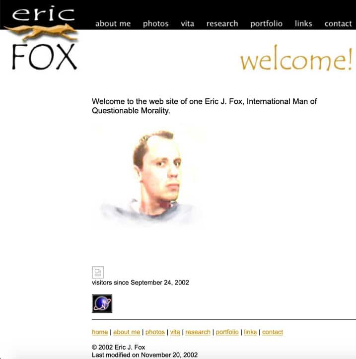 EricFox.net Website